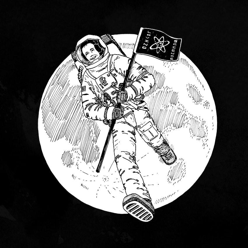Neil Armstrong Original Art